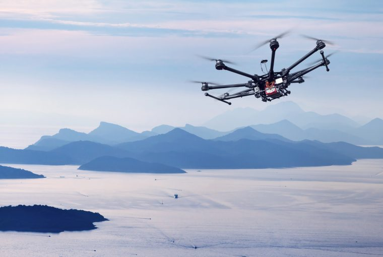 Drone over havet